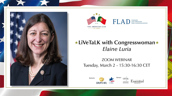 Webinar Tuesday, March 2 at 3:30pm CET with Congresswoman Elaine Luria