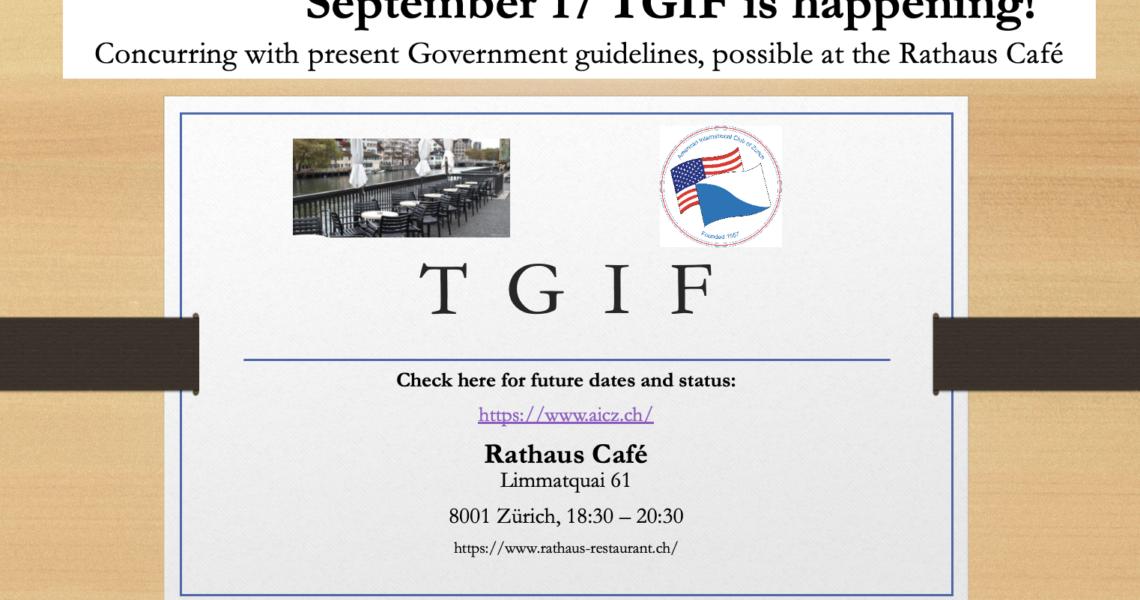 TGIF – September 17, 2021